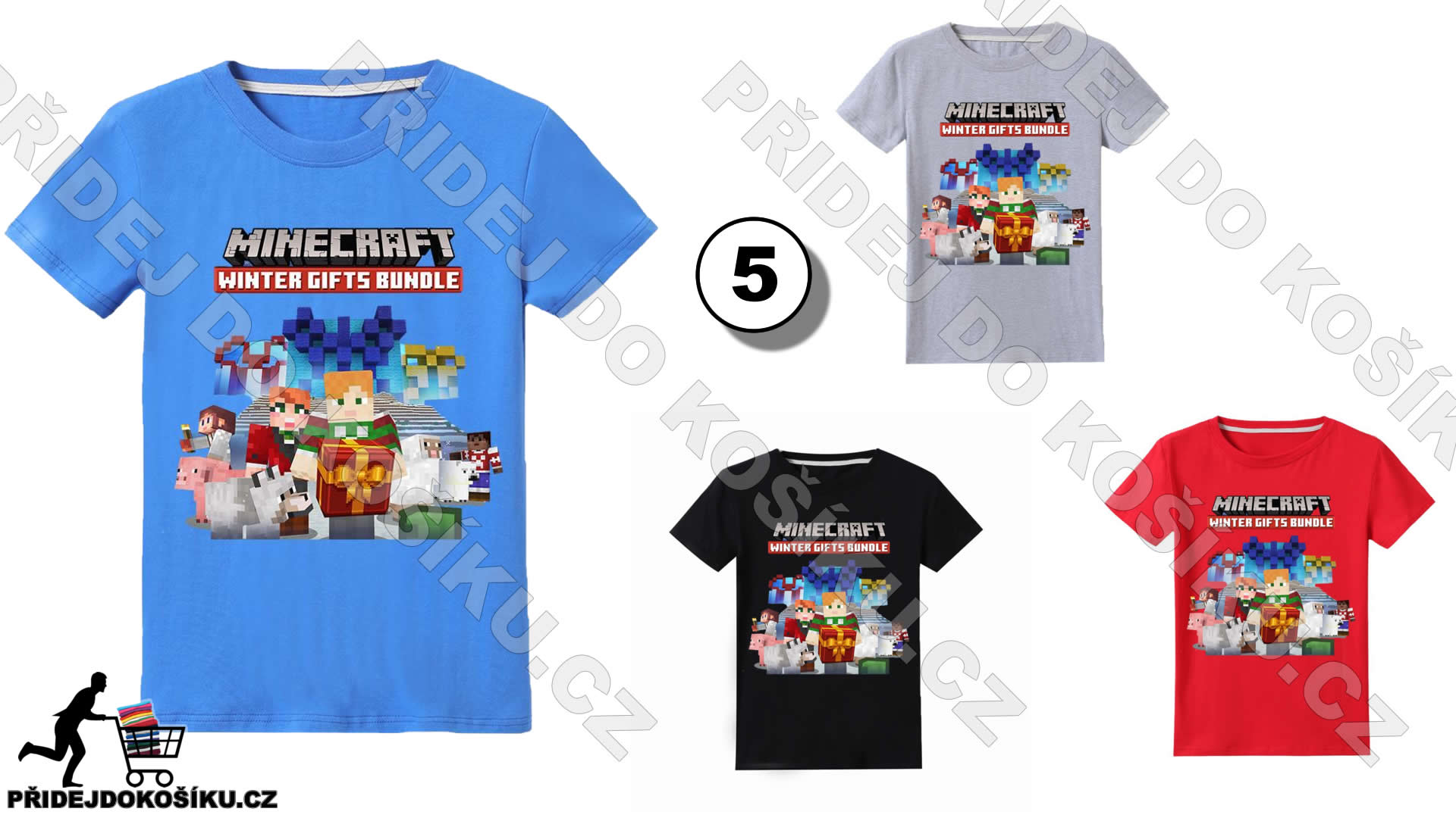 minecraft winter gifts bundle tričko